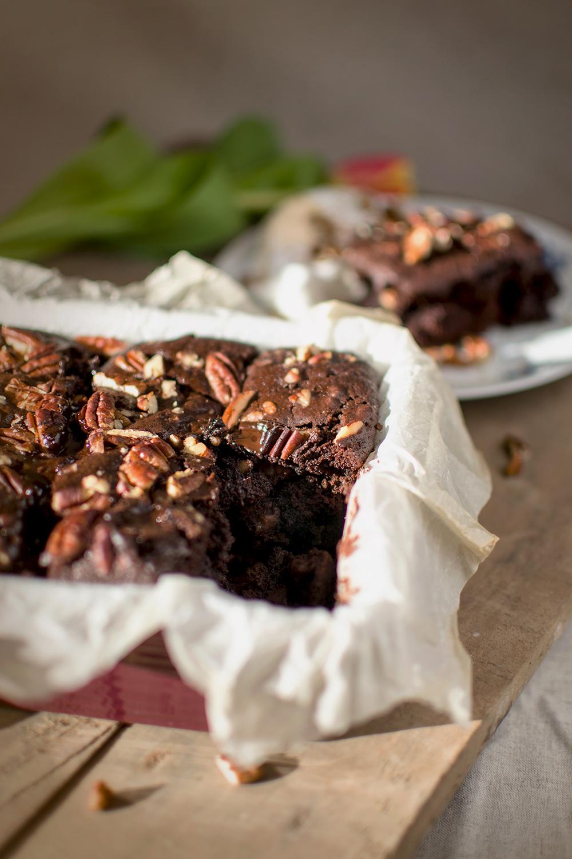 Čokoládové brownie s pekanovými orechmi | Recept