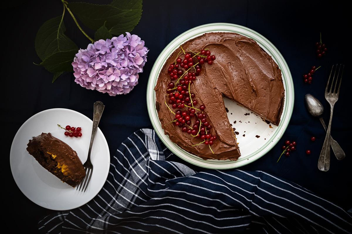 Čokoládová torta s tvarohom
