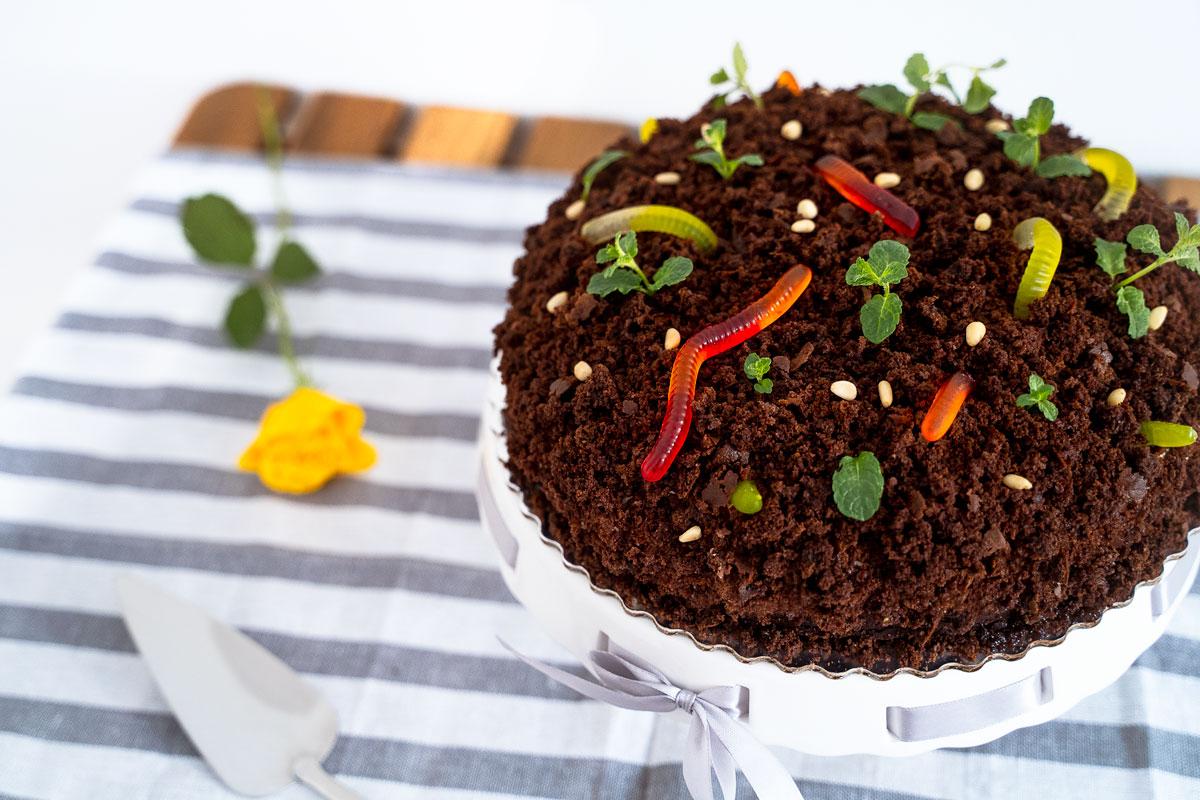 Krtkova torta s višnami