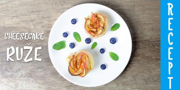 Cheesecake jablkové ruže