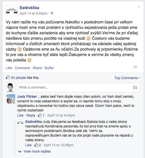 estéVečka a jej Facebook