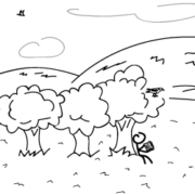Hejno bez ptáků - ilustrácia