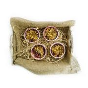 Recept: Hruškové crumble s lesným ovocím a ovsenými vločkami