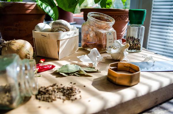 Príprava surovín na kapustnicu