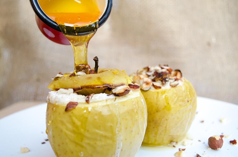 Pečené jablká plnené tvarohom